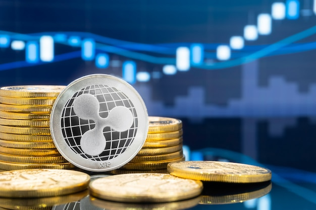 Ripple en cryptocurrency investeringsconcept.