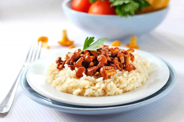 Risotto met cantharellen