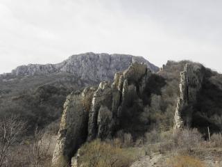 Ritlite-rotsformatie in de iskar gorg, landschap