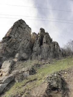 Ritlite-rotsformatie in de iskar gorg, planina