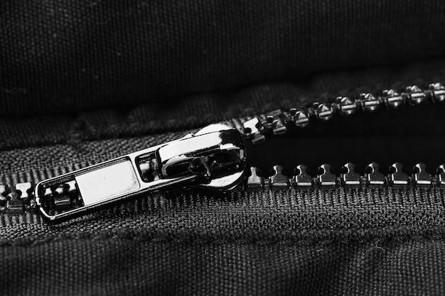 Rits op kleding close-up