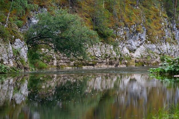 Rivier tussen de rotsen