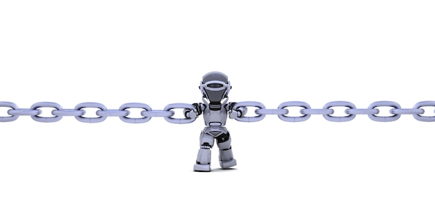 Robot bedrijfsketting