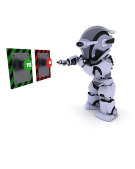 Robot die beslist welke knop moet worden ingedrukt