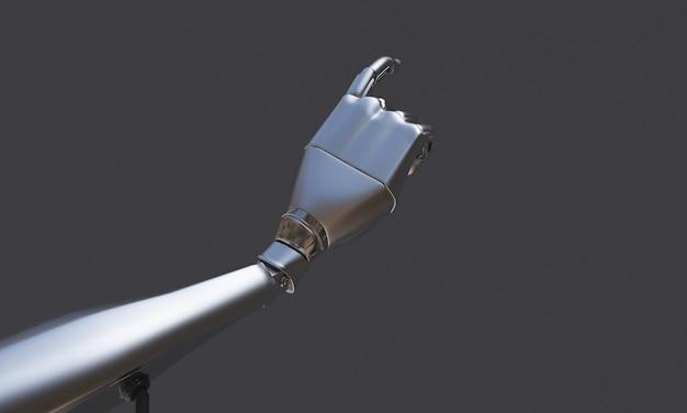 Robot hand op de zwarte achtergrond. robottechnologie voor de toekomst