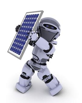 Robot met zonnepaneel