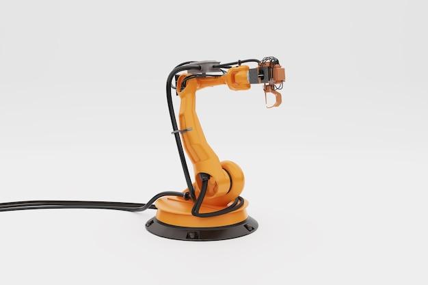 Robotarm., geïsoleerd op een witte achtergrond., 3d illustratie