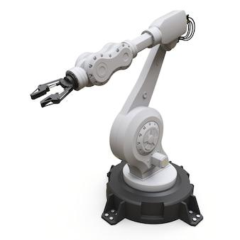 Robotarm voor elk werk in een fabriek of productie. mechatronische apparatuur voor complexe taken
