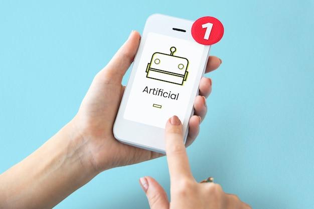 Robotconcept op een digitaal scherm
