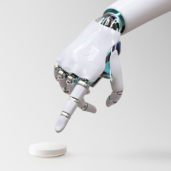 Robothandvinger wijzend, ai-technologie