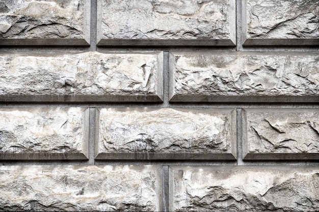 Rock sombere patroonruimte. grijs metselwerk, metselwerktextuur.