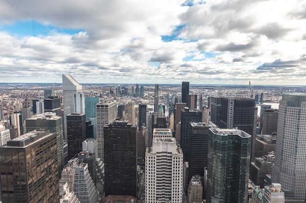Rock top-uitkijkpunt in new york