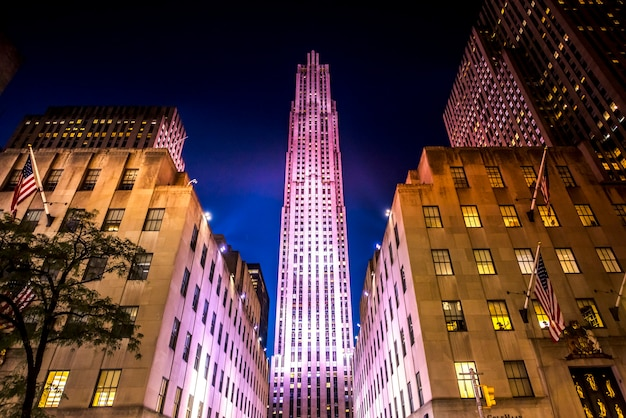 Rockefeller center in new york, verenigde staten