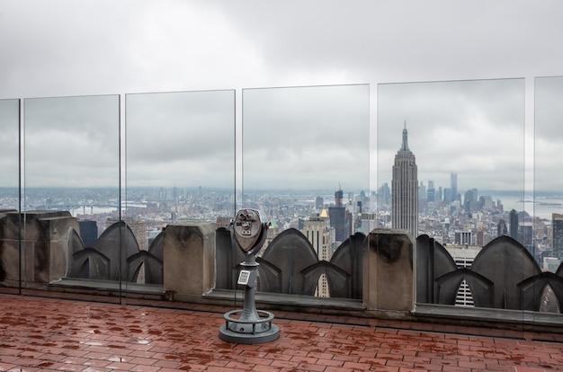 Rockefeller center top of the rock observatiedek Premium Foto