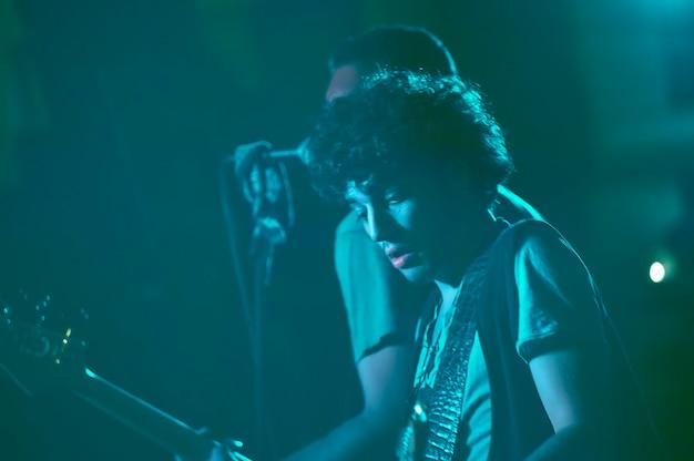 Rocker 's nachts optreden in de vs