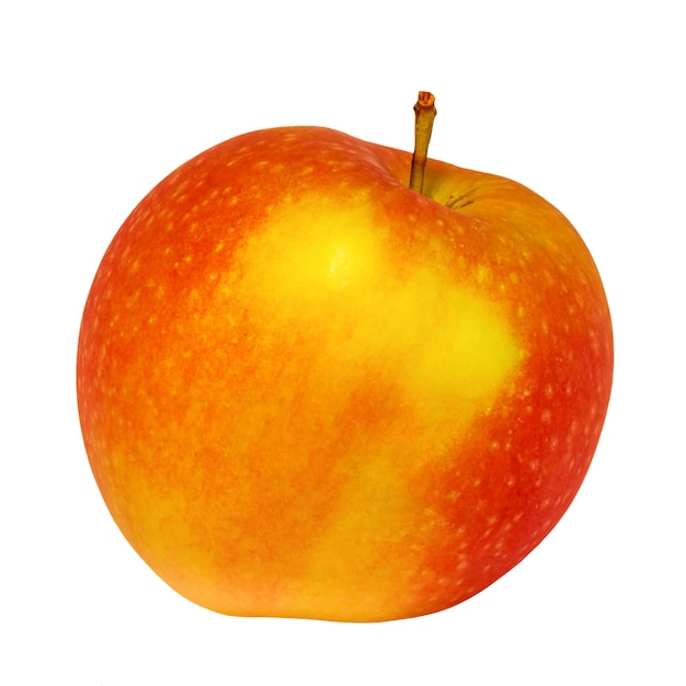 Rode appel geïsoleerd op een witte achtergrond. gezonde voeding, fruit, vitamines.