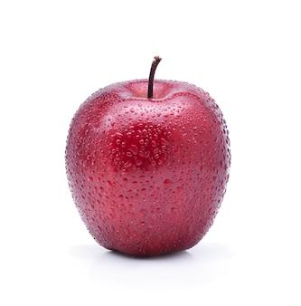 Rode appel geïsoleerd op wit