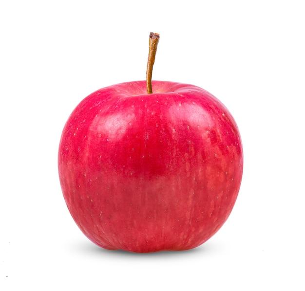 Rode appel op witte achtergrond