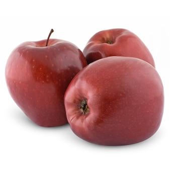 Rode appels geïsoleerd op wit