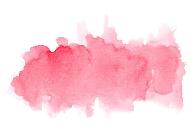 Rode aquarel vlek tinten penseelstreek