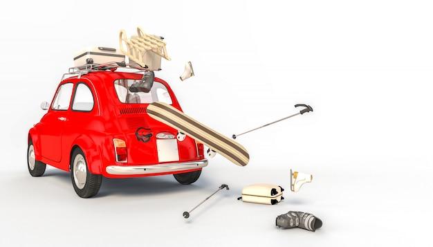 Rode auto- en winterdingen