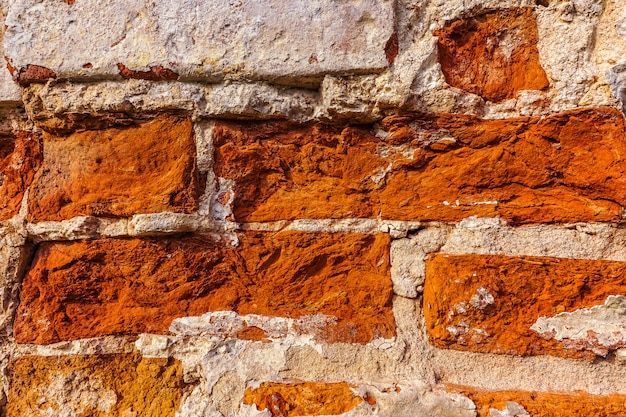 Rode baksteen getextureerde muur.