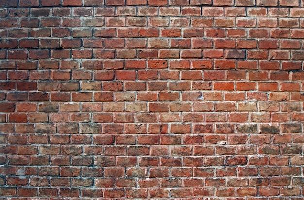 Rode bakstenen muur, achtergrond, textuur