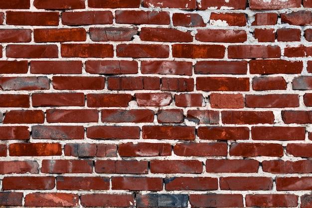 Rode bakstenen muur. plaats voor tekst.