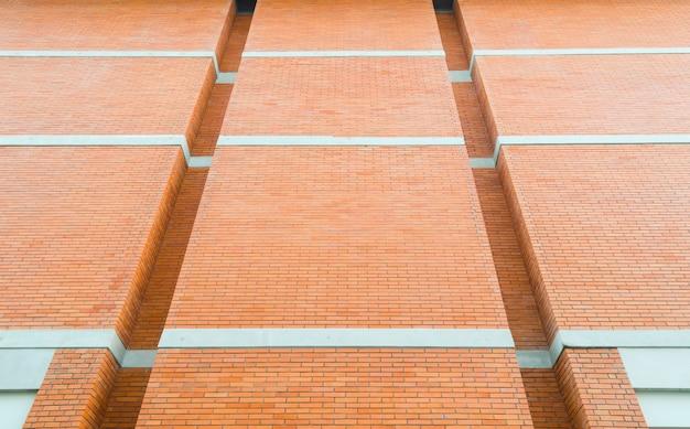 Rode bakstenen muur textuur grunge achtergrond met vignetted hoeken van interieur