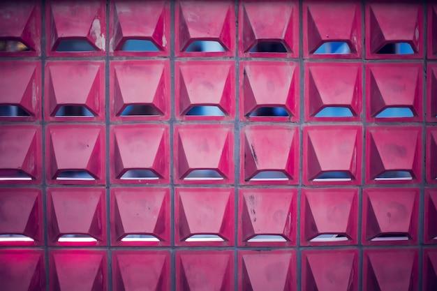 Rode bakstenen muur uitstekende en moderne textuur als achtergrond