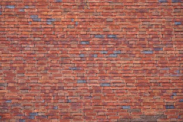 Rode bakstenen muur voor achtergrond of textuur. de oude rode achtergrond van de bakstenen muurtextuur