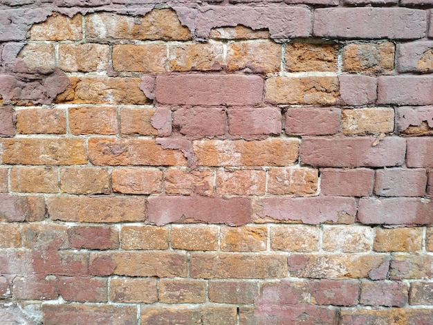 Rode bakstenen muur