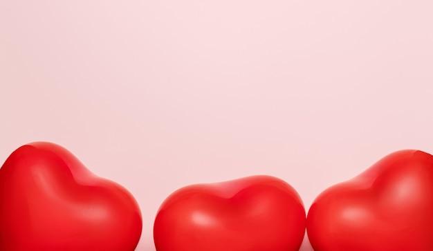 Rode ballonnen in vorm van hart
