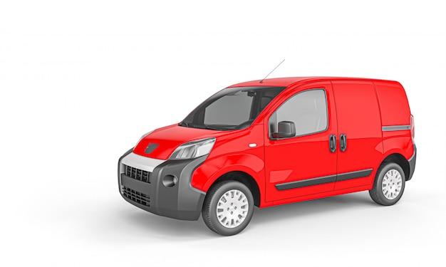 Rode bestelwagen voor vrachtvervoer