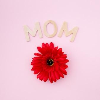 Rode bloem voor moederdag