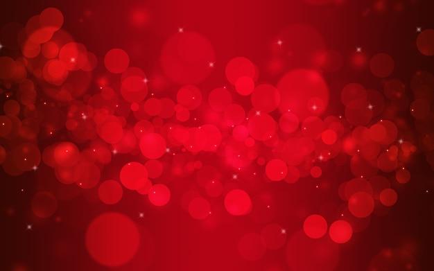 Rode bokeh vervagen. kerstmis en nieuwjaar licht abstract concept.