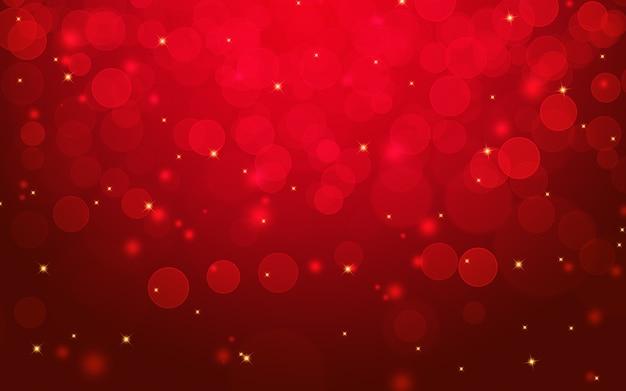 Rode bokehlichten