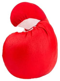 Rode bokshandschoenen geïsoleerd op een witte achtergrond.
