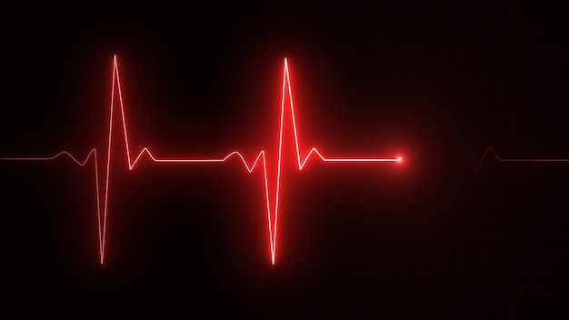 Rode cardiogram lijn