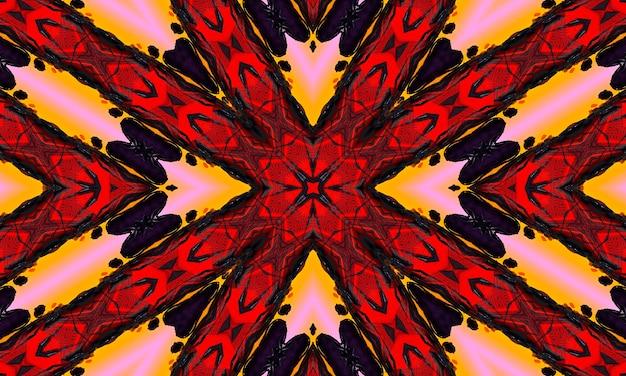Rode cirkelvormige golf gloed. caleidoscoop lichteffect. abstracte achtergrond voor uw bedrijf.