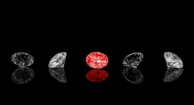 Rode diamant klassieke snit