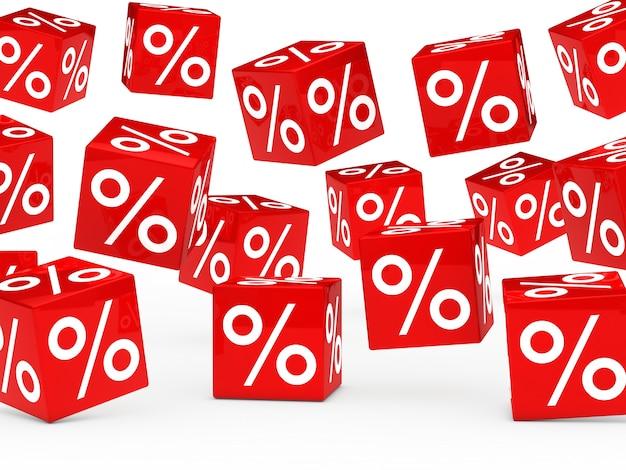 Rode dobbelstenen met percentages