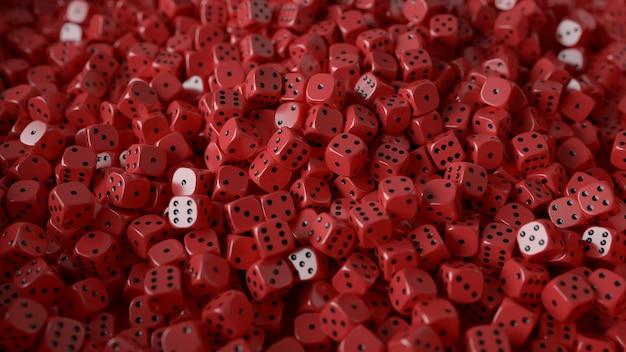 Rode dobbelstenen