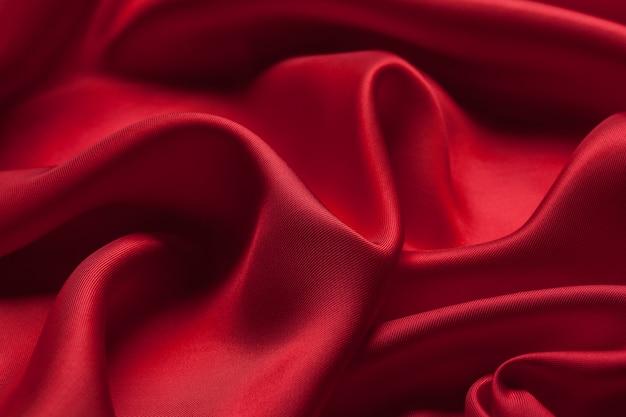 Rode doekgolven textuur als achtergrond