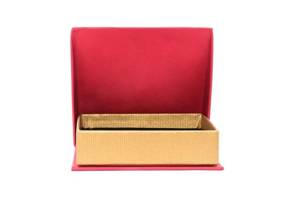 Rode doos voor geïsoleerde juwelen en geschenken