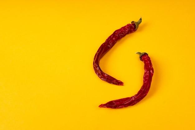 Rode droge hete spaanse pepers.