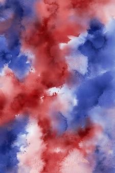 Rode en blauwe aquarel achtergrond, abstracte patriottische digitale papier