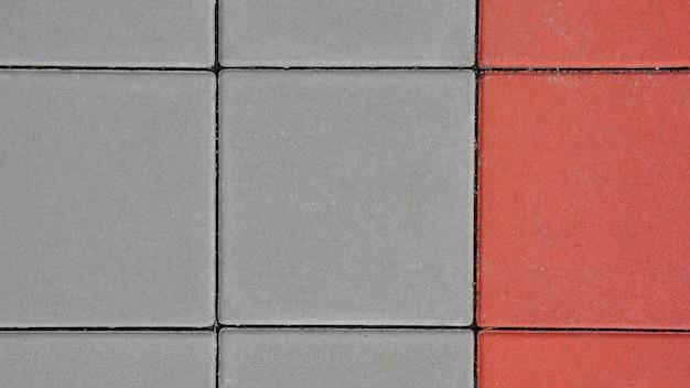 Rode en grijze straatsteentextuur
