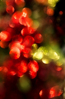 Rode en groene bokeh beroemdheden van kerstmis