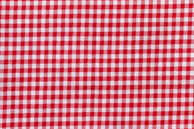 Rode en witte geruite stoffentextuur